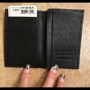 Barney's Black Wallet. NWOT